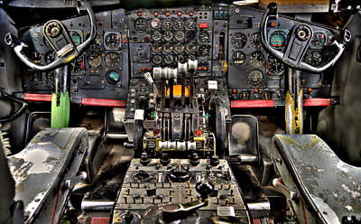 Photograph - Cockpit Controls Hdr by Kevin Munro