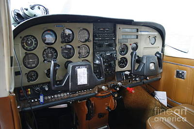 Photograph - Cockpit Of A Small Plane by Patricia Hofmeester