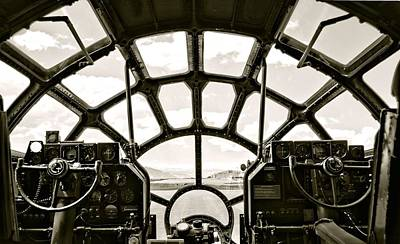 Photograph - Cockpit View Of B-29 Bomber Airplane by Amy McDaniel