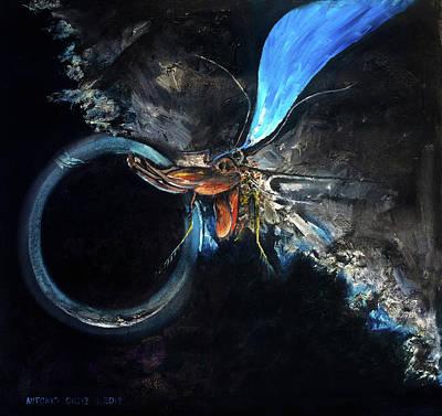 Larry David Painting - Cockroach by Antonio Ortiz
