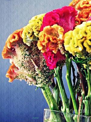 Photograph - Cockscomb Bouquet 2 by Sarah Loft