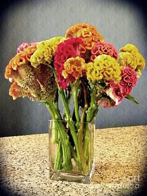 Photograph - Cockscomb Bouquet by Sarah Loft