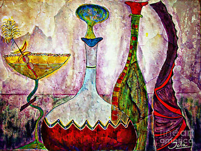 Painting - Cocktail And Wine by Jolanta Anna Karolska