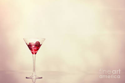 Glass Art Photograph - Cocktail In Art Deco Glass by Amanda Elwell