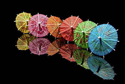 Papers Photograph - Cocktail Umbrellas IIi by Tom Mc Nemar