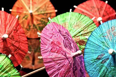 Cocktail Umbrellas Iv Print by Tom Mc Nemar