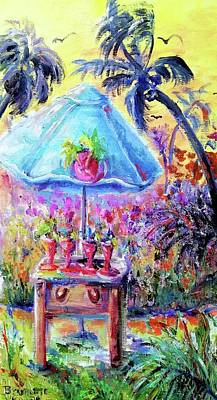 Painting - Cocktails On The Beach by Bernadette Krupa
