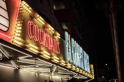 Photograph - Cocktails Sign Las Vegas  by John McGraw