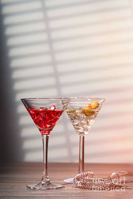 Venetian Glass Photograph - Cocktails With Strainer by Amanda Elwell