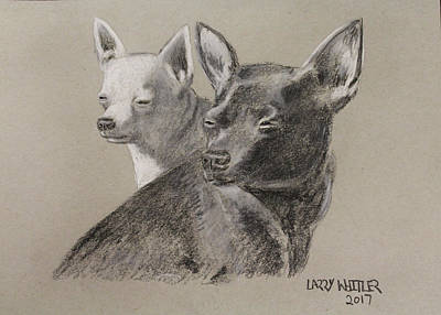 Drawing - Coco And Rudy by Larry Whitler