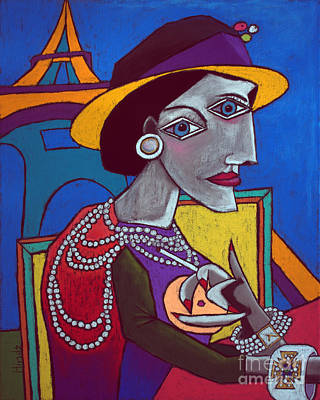 Self-taught Painting - Coco Chanel by David Hinds