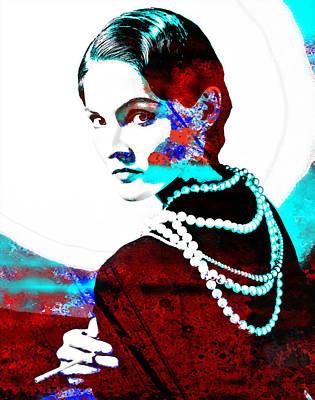 Coco Chanel Hommage Art Print by Vel Verrept