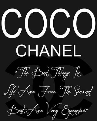Actors Mixed Media - Coco Chanel Quote 3 by Dan Sproul