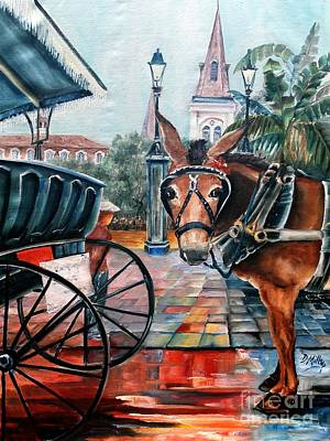 Coco In The Quarter Art Print by Diane Millsap