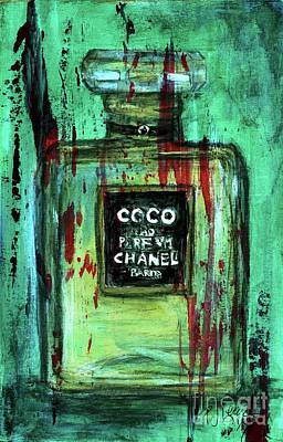 Perfume Bottles Painting - Coco Potion by P J Lewis