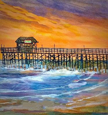 Painting - Cocoa Beach Pier by Anne Sands