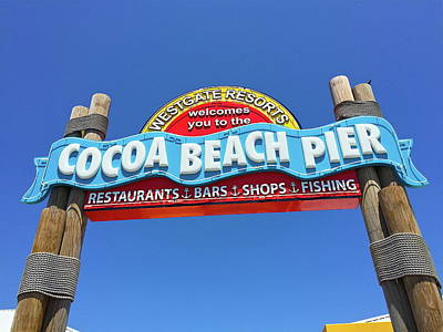 Photograph - Cocoa Beach Pier by Denise Mazzocco