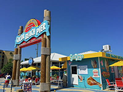 Photograph - Cocoa Beach Pier Entrance by Denise Mazzocco