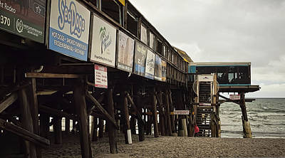 Photograph - Cocoa Beach Pier - Signage - Florida by Greg Jackson