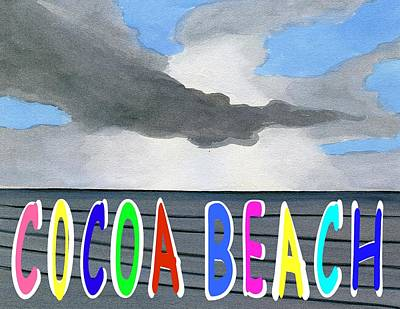 Digital Art - Cocoa Beach Poster T-shirt by Dick Sauer