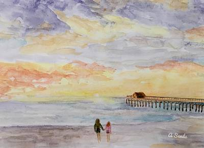 Painting - Cocoa Beach Sunrise by Anne Sands