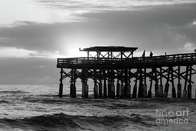 Photograph - Cocoa First Sunrise Grayscale by Jennifer White