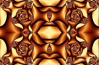 Digital Art - Cocoa Fractal Roses by Clayton Bruster