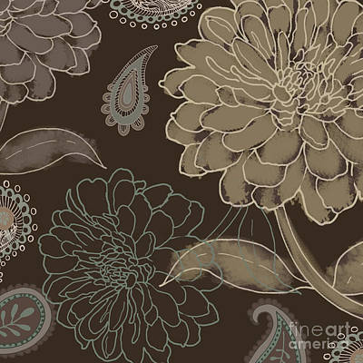 Cocoa Paisley II Art Print by Mindy Sommers