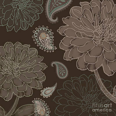 Cocoa Paisley IIi Print by Mindy Sommers