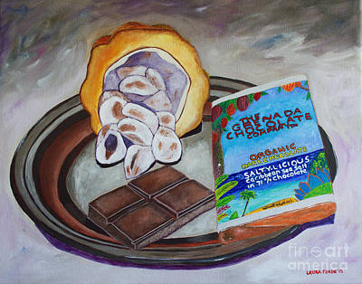 Painting - Cocoa Pod To Chocolate Bar by Laura Forde