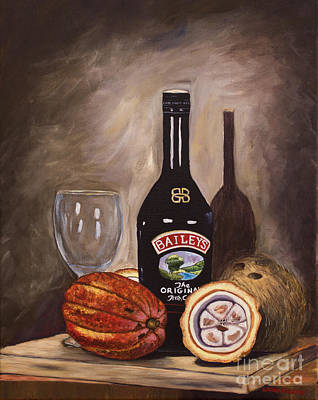 Painting - Cocoa Pods Coconut And Irish Cream by Laura Forde