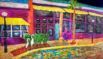 Painting - Cocoa Village At Night by Anne Sands