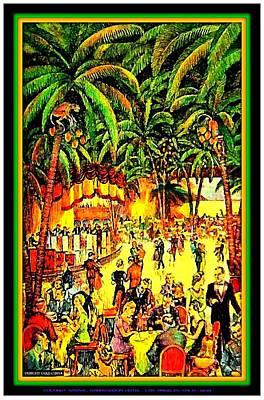 Cocoanut Grove In The Ambassador Hotel 1935 Art Print by Dwight Goss