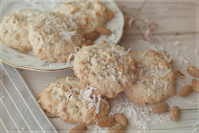 Photograph - Coconut Almond Cookies by Teresa Wilson