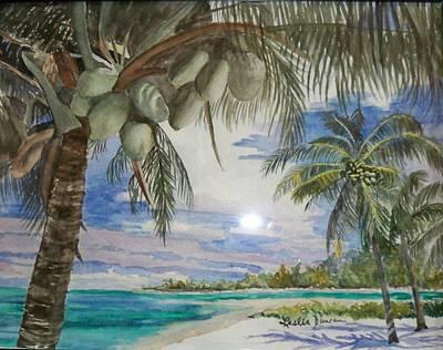 Coconut Beach Art Print by Leslie Duncan