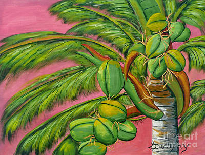 Painting - Coconut Palm by Anthony Dunphy