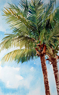 Painting - Coconut Palm by Peter Sit