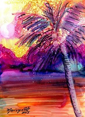 Coconut Palm Tree 2 Art Print by Marionette Taboniar