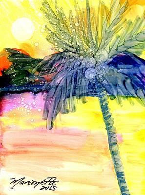 Coconut Palm Tree 3 Art Print by Marionette Taboniar