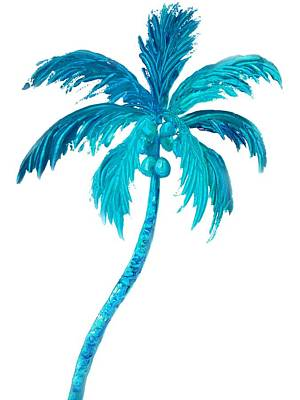 Puerto Rico Painting - Coconut Palm Tree by Jan Matson