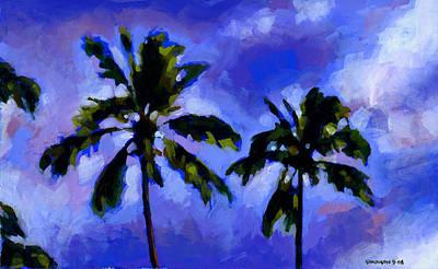 Coconut Palms 1 Art Print by Douglas Simonson