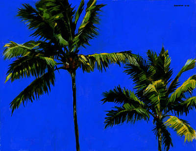 Coconut Trees Painting - Coconut Palms 3 by Douglas Simonson