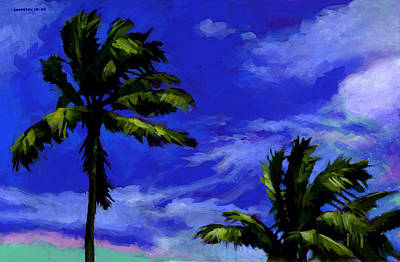 Palm Frond Painting - Coconut Palms 4 by Douglas Simonson