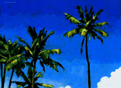 Trees Painting - Coconut Palms 5 by Douglas Simonson