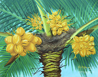 Painting - Coconut Palms by Val Miller