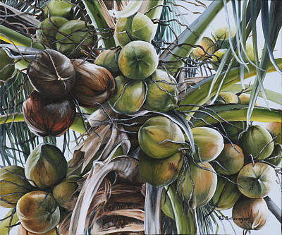 Coconut Trees Painting - Coconut Profusion by Wendy Ballentyne