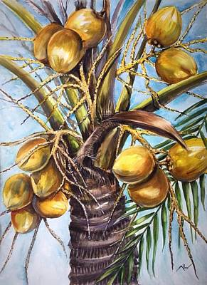Painting - Coconut Tree by Katerina Kovatcheva