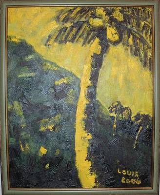 Coconut Tree Art Print by Louis  Stephenson