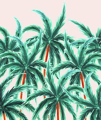 Coconuts Digital Art - Coconut Trees by Uma Gokhale