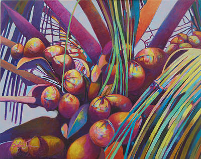 Painting - Coconuts Closeup by Glenford John